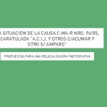 Propuestas para una relocalización participativa