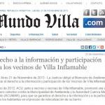 Derecho a la información y participación para los vecinos de Villa Inflamable