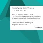 """Informe """"Ciudadanía, derechos y control social"""""""