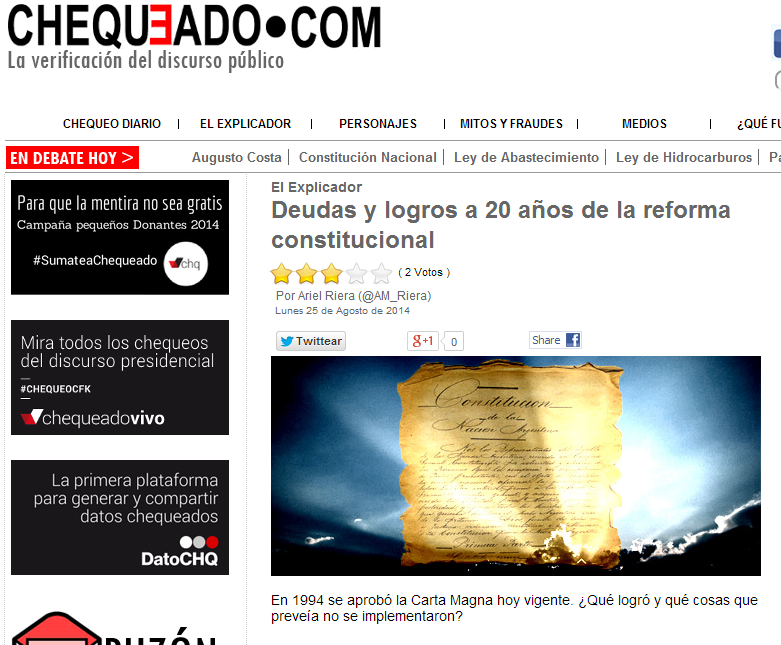 Deudas y logros a 20 años de la reforma constitucional