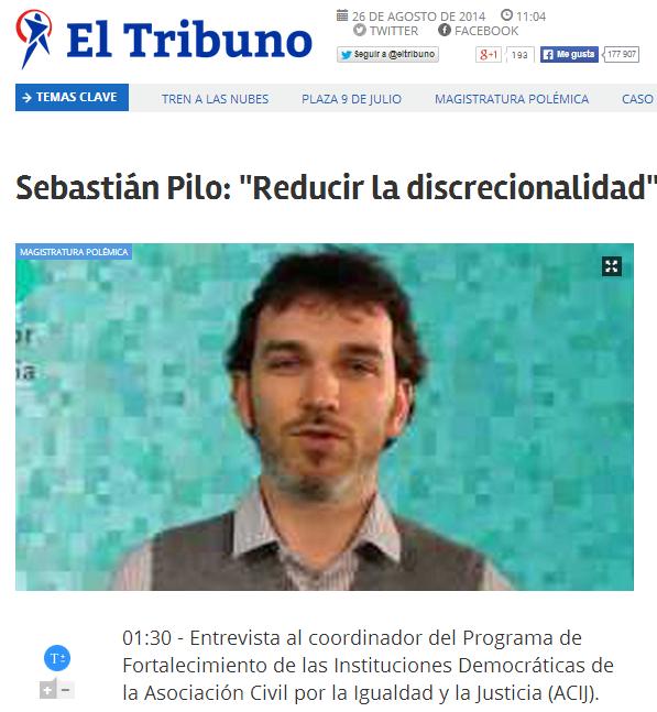 """Sebastián Pilo: """"Reducir la discrecionalidad"""""""
