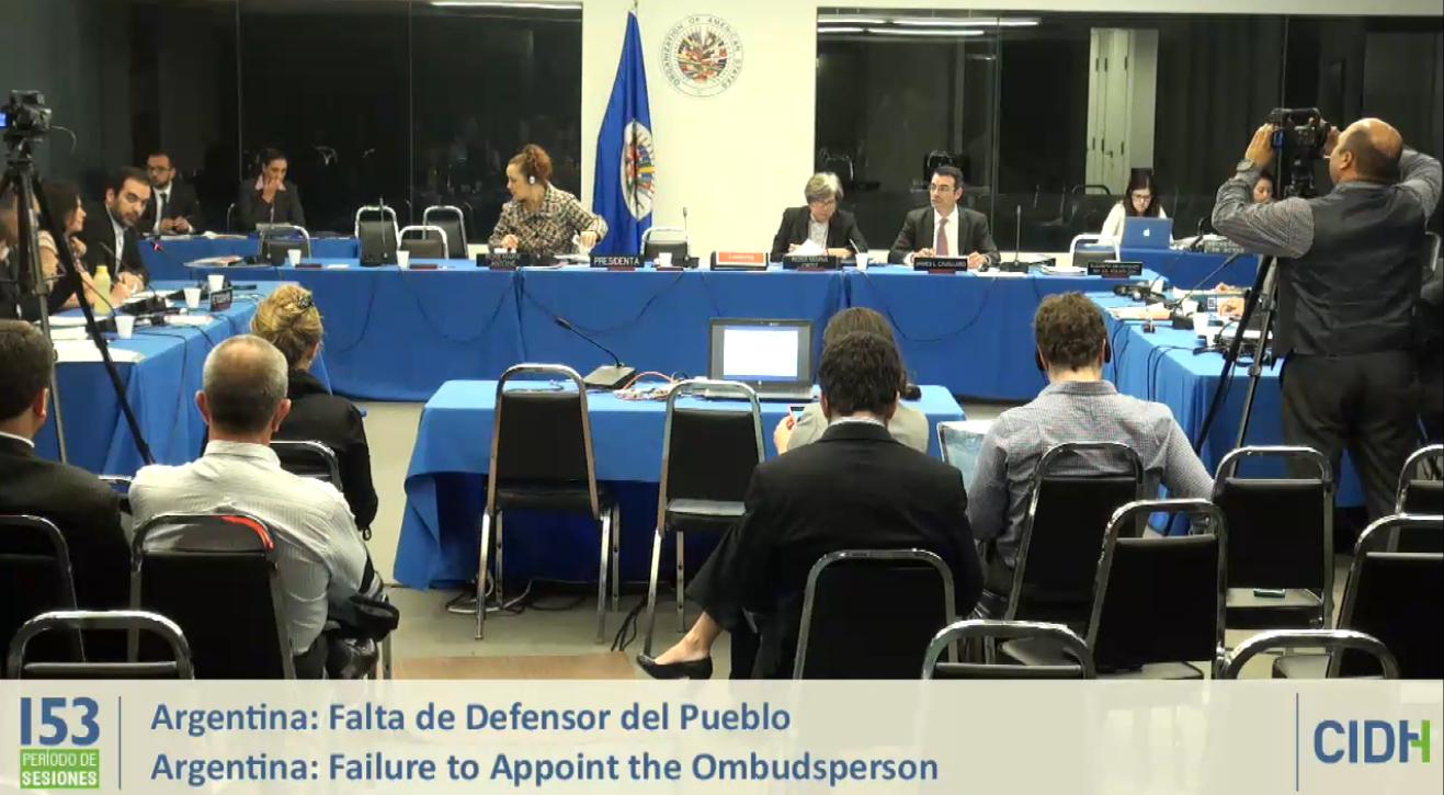 La CIDH se ofreció a facilitar el diálogo para posibilitar la designación del Defensor del Pueblo
