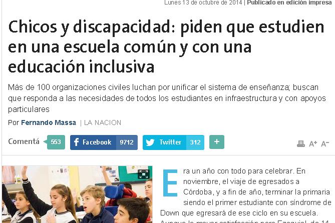 Chicos y discapacidad: piden que estudien en una escuela común y con una educación inclusiva