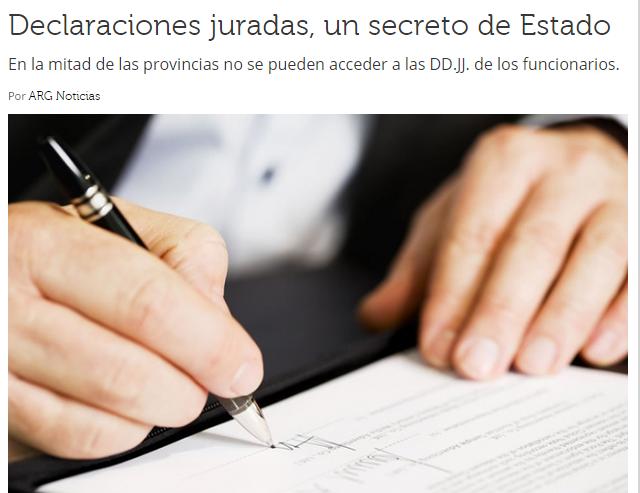 Declaraciones juradas, un secreto de Estado