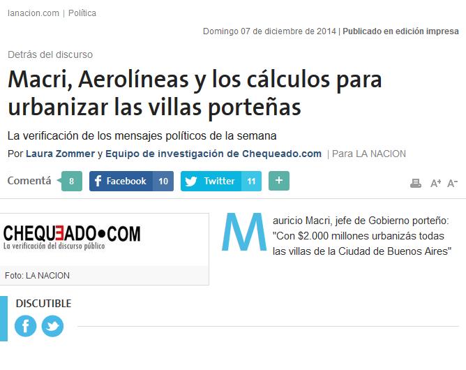 Macri, Aerolíneas y los cálculos para urbanizar las villas porteñas