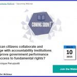 Webinar: colaboración entre ciudadanos e instituciones de rendición de cuentas.
