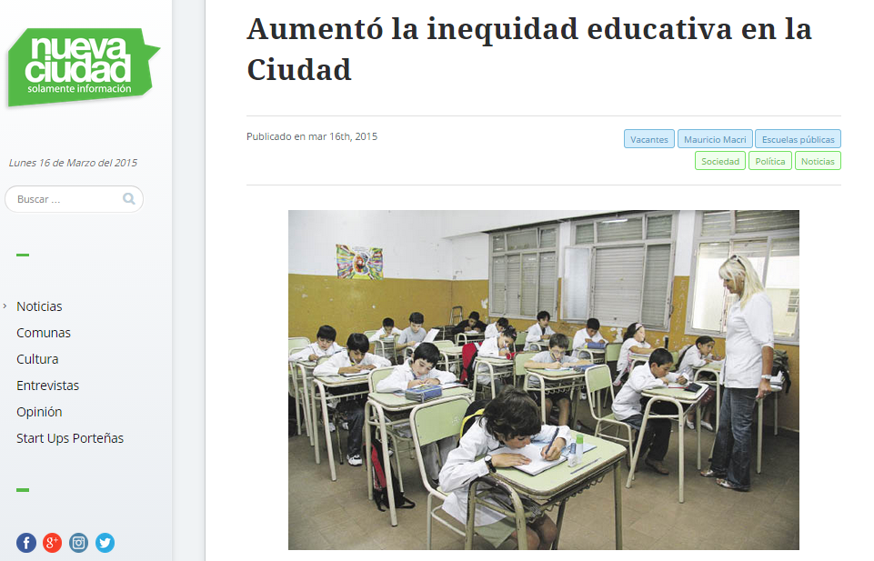Aumentó la inequidad educativa en la Ciudad