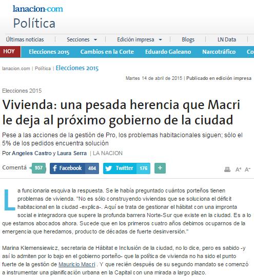 Vivienda: una pesada herencia que Macri le deja al próximo gobierno de la ciudad