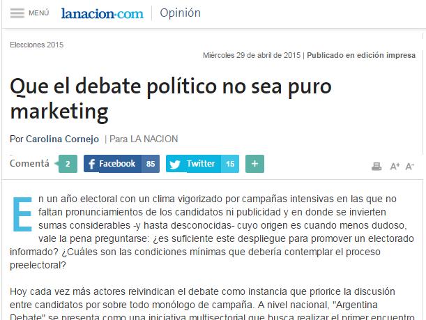 Que el debate político no sea puro marketing