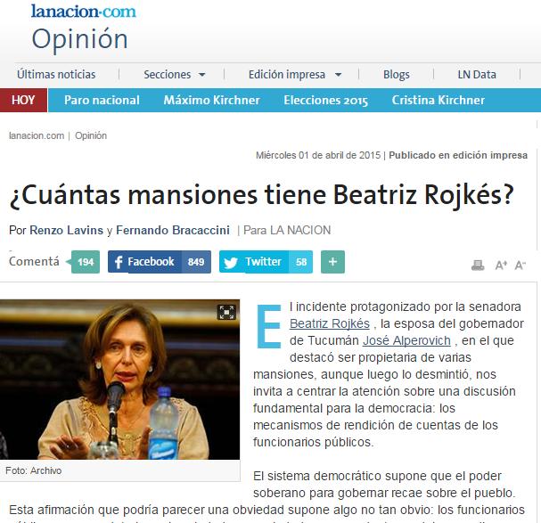 ¿Cuántas mansiones tiene Beatriz Rojkés?