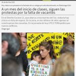 A un mes del inicio de clases, siguen las protestas por la falta de vacantes