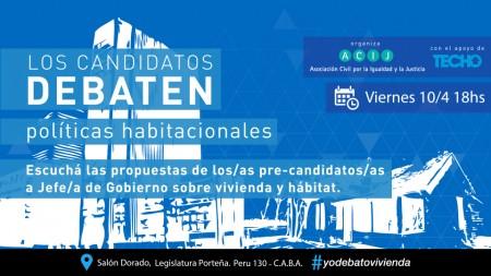 Debate de candidatos sobre políticas habitacionales en la Ciudad