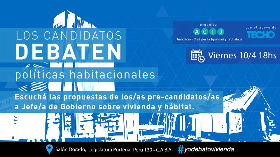 ACIJ organizó un debate con pre-candidatos a Jefe de Gobierno de la Ciudad de Buenos Aires