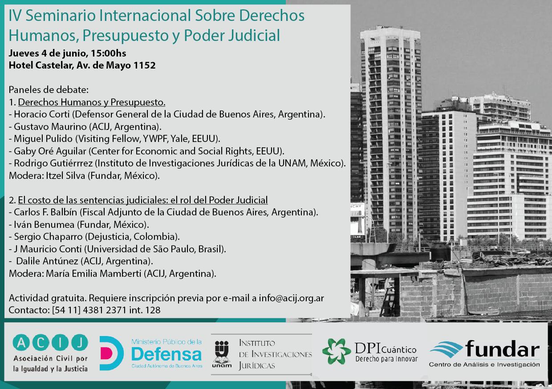IV Seminario Internacional sobre Derechos Humanos, Presupuesto y Poder Judicial