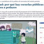 Ciudad: por qué hay escuelas públicas que se caen a pedazos