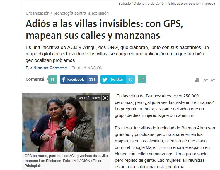 Adiós a las villas invisibles: con GPS, mapean sus calles y manzanas