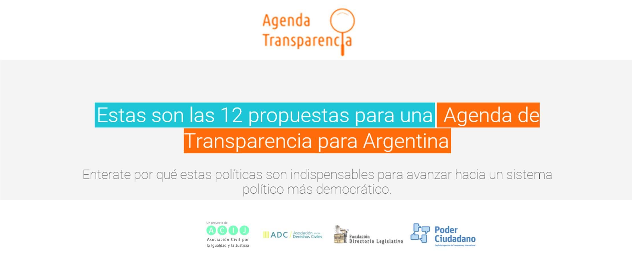 Agenda transparencia flyer