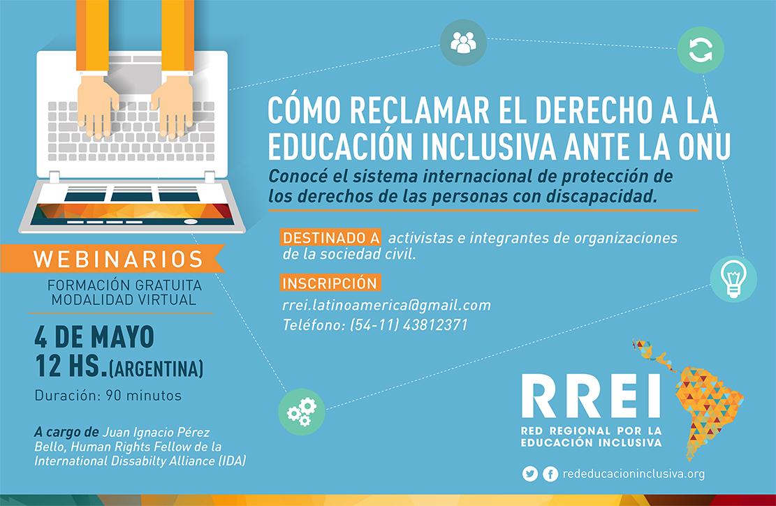 Seminario en línea: Cómo reclamar el derecho a la educación inclusiva ante la ONU