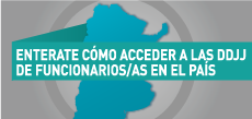 Enterate como acceder a las Declaraciones Juradas de funcionarios/as públicos/as en cada jurisdicción del país.