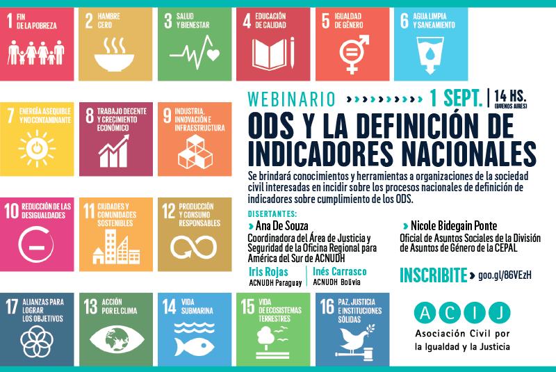 """Webinario """"ODS y la definición de indicadores nacionales"""""""