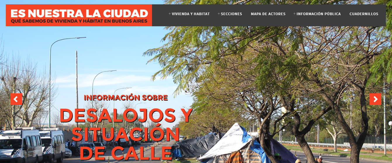 ACIJ invita a conocer EsNuestraLaCiudad.org, la plataforma online sobre vivienda y hábitat en la Ciudad de Buenos Aires