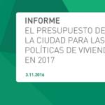 ACIJ presentó el informe sobre Presupuesto CABA para vivienda en 2017