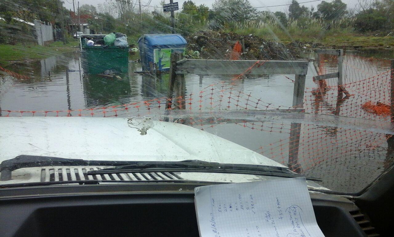 Grave inundación en Villa Inflamable producto de la inacción estatal