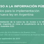 21 y 22/09: ACCESO A LA INFORMACIÓN PÚBLICA - Desafíos para la implementación de la nueva Ley