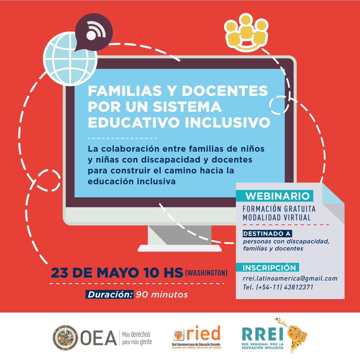 WEBINARIO: FAMILIAS Y DOCENTES POR UN SISTEMA EDUCATIVO INCLUSIVO