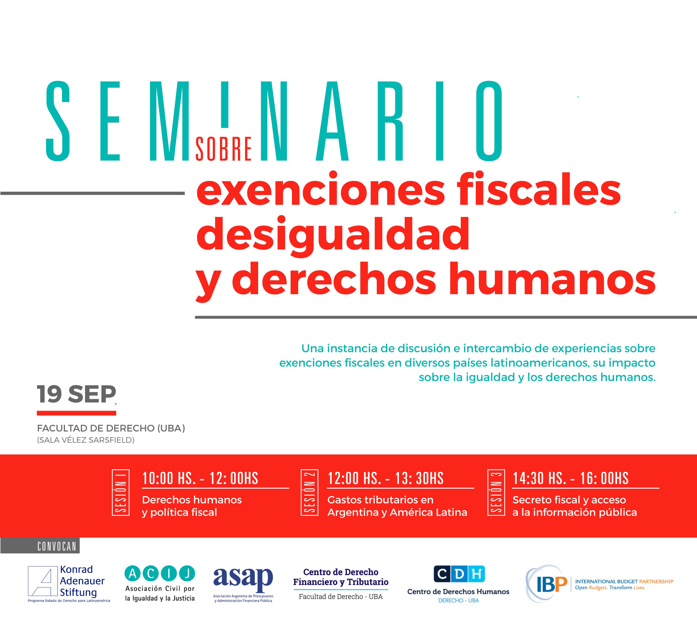 Seminario sobre exenciones fiscales, desigualdad y derechos humanos
