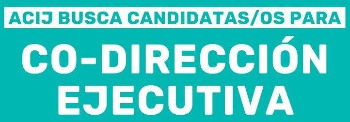 ACIJ busca candidatas/os para su Co-Dirección Ejecutiva