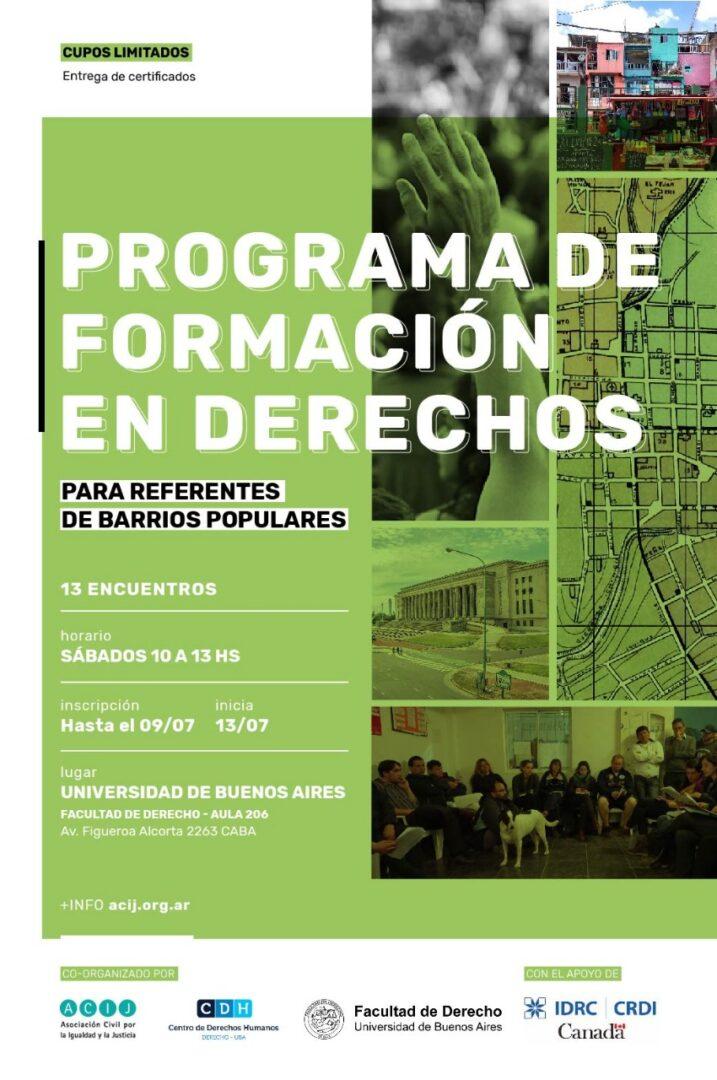 Programa de Formación en Derechos para Referentes de Barrios Populares