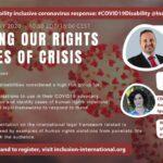 """Webinario """"Protegiendo nuestros derechos en tiempos de crisis"""" organizado por Inclusion International"""