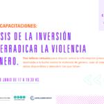 Ciclo de capacitaciones: Análisis de la inversión para erradicar la violencia de género