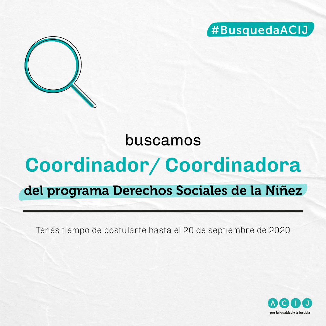 Coordinador/a del programa Derechos Sociales de la Niñez