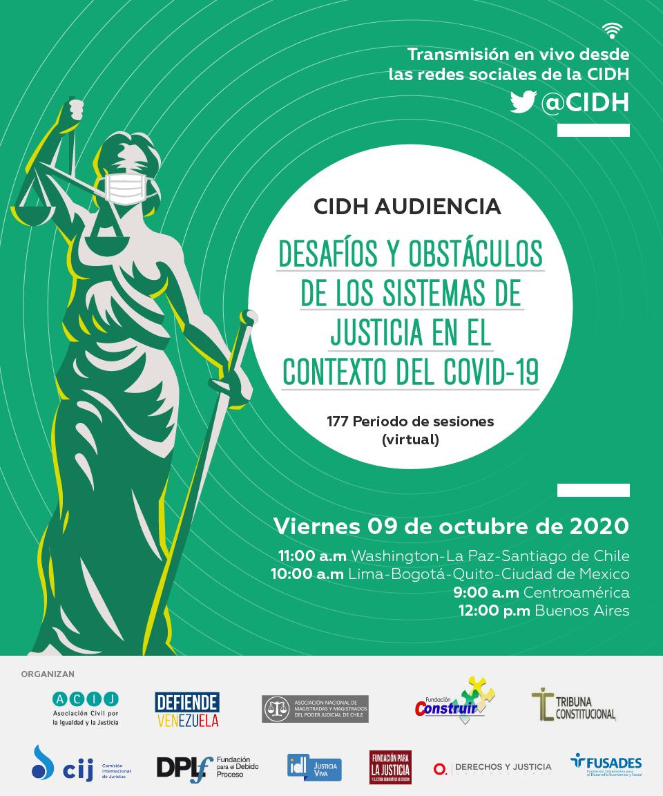 La CIDH concedió una audiencia pública sobre desafíos y obstáculos de los sistemas de justicia durante la pandemia