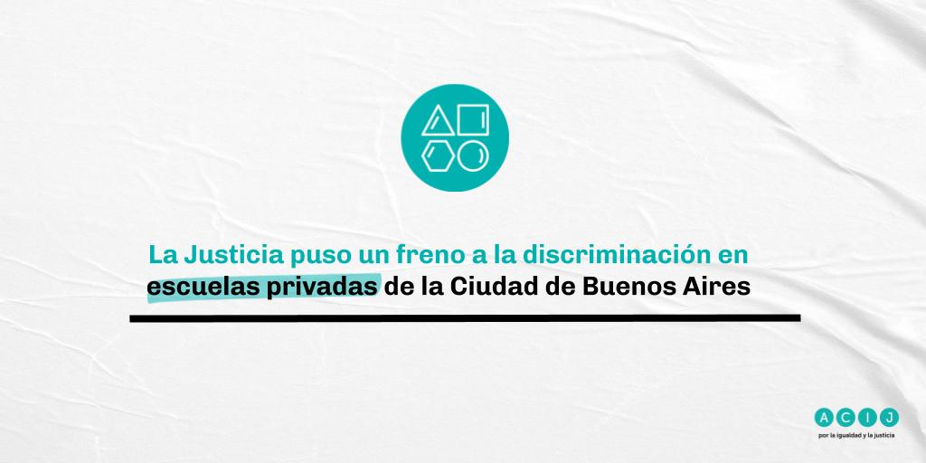 La Justicia puso un freno a la discriminación en escuelas privadas de la Ciudad de Buenos Aires
