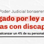 Ordenan al Poder Judicial de la Provincia de Buenos Aires cumplir con el  cupo laboral destinado a las personas con discapacidad