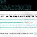 Comienza el segundo eje de conversaciones del ciclo de Salud Mental y DDHH: «Hacia una salud mental comunitaria»