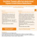 Curso intensivo | Presupuesto, política fiscal y derechos humanos