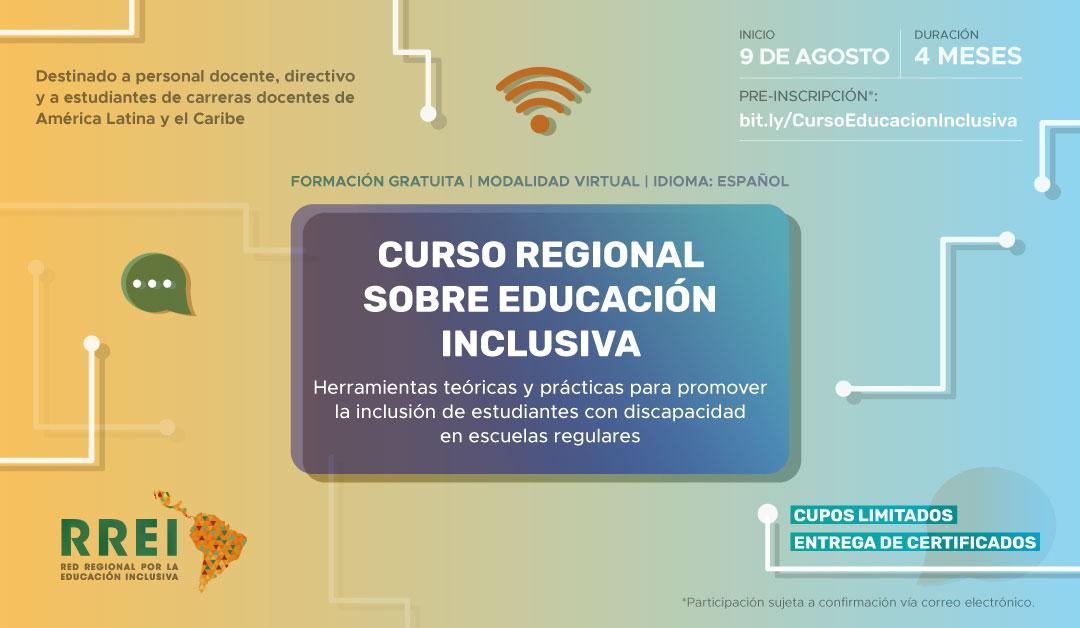 Desde la RREI, lanzamos el Curso Regional sobre Educación Inclusiva