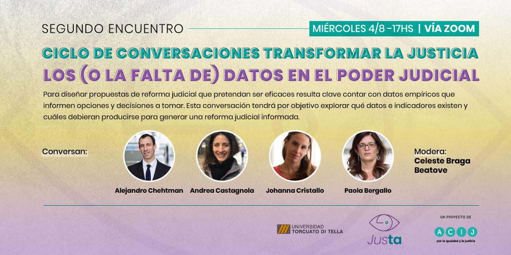 """Ciclo de Conversaciones Transformar la Justicia: """"Los (o la falta de) datos en el Poder Judicial"""""""