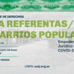 Curso de derechos para referentas y referentes de barrios populares