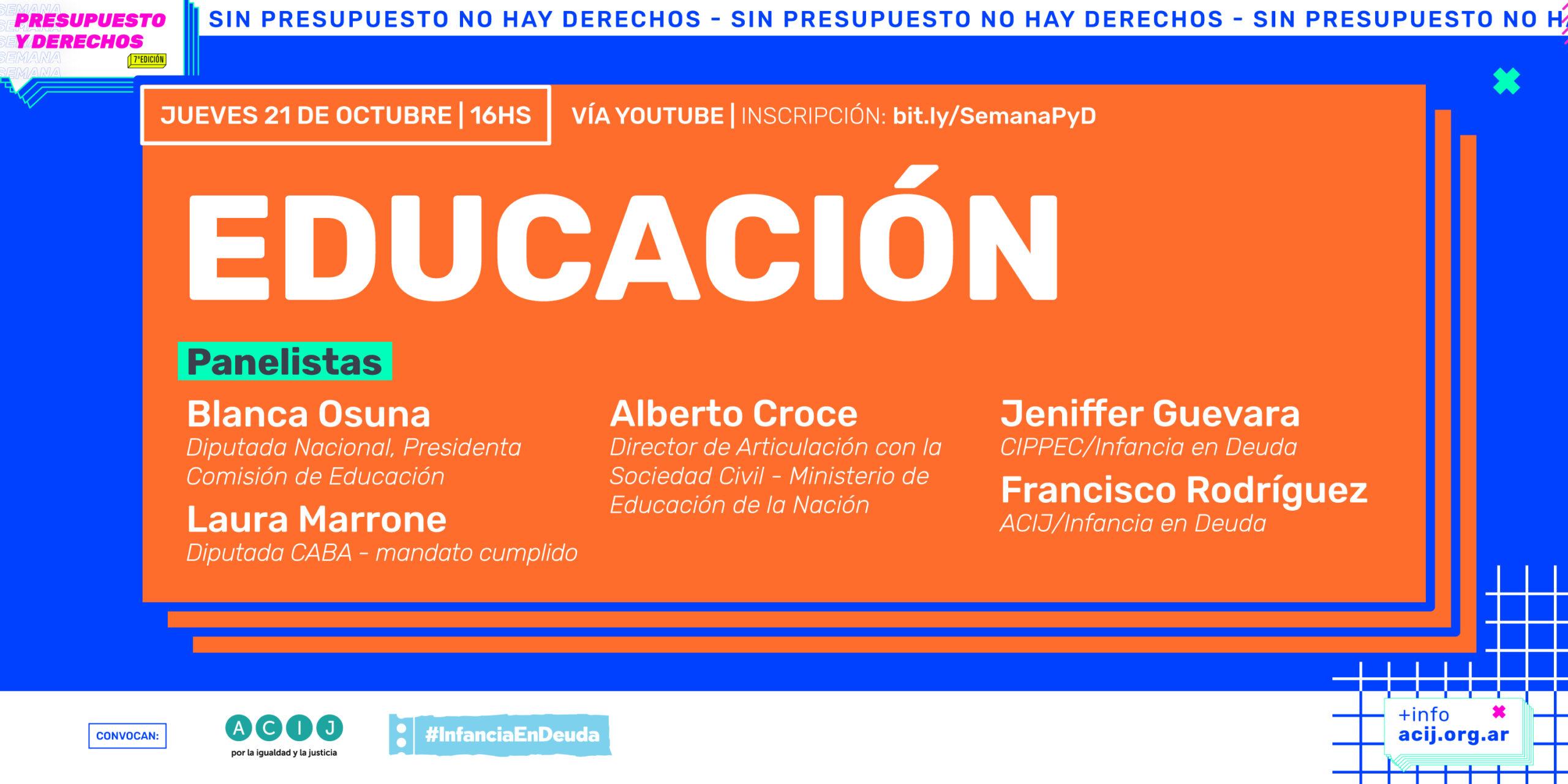 """Séptima edición de la """"Semana Presupuesto y Derechos 2021"""""""